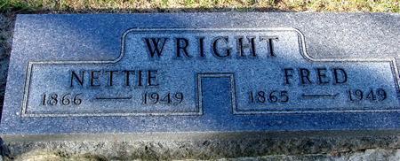 WRIGHT, FRED & NETTIE - Woodbury County, Iowa | FRED & NETTIE WRIGHT
