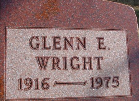 WRIGHT, GLENN E. - Woodbury County, Iowa   GLENN E. WRIGHT