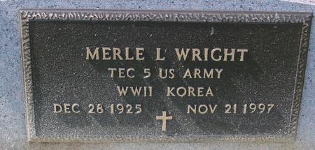 WRIGHT, MERLE L. - Woodbury County, Iowa   MERLE L. WRIGHT