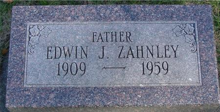 ZAHNLEY, EDWIN J. - Woodbury County, Iowa | EDWIN J. ZAHNLEY
