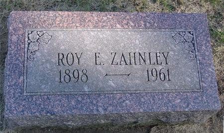 ZAHNLEY, ROY E. - Woodbury County, Iowa | ROY E. ZAHNLEY