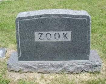 ZOOK, FAMILY MARKER - Woodbury County, Iowa | FAMILY MARKER ZOOK