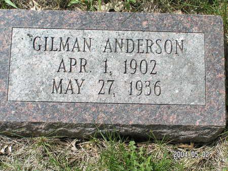 ANDERSON, GILMAN - Worth County, Iowa | GILMAN ANDERSON