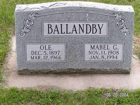BALLANDBY, OLE - Worth County, Iowa | OLE BALLANDBY