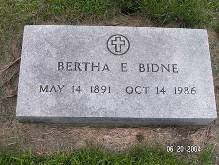 BIDNE, BERTHA E. - Worth County, Iowa   BERTHA E. BIDNE
