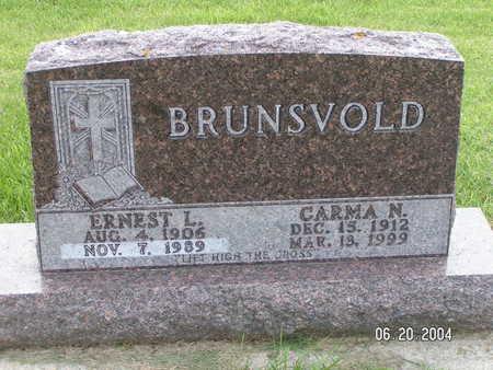 BRUNSVOLD, ERNEST L. - Worth County, Iowa | ERNEST L. BRUNSVOLD