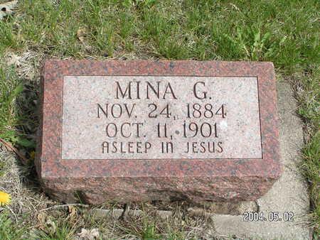 DAHL, MINA G. - Worth County, Iowa | MINA G. DAHL