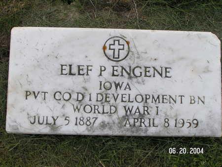 ENGENE, ELEF P. - Worth County, Iowa   ELEF P. ENGENE