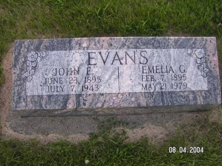 EVANS, EMELIA G. - Worth County, Iowa | EMELIA G. EVANS