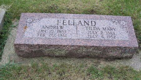 FELLAND, ANDREW - Worth County, Iowa   ANDREW FELLAND