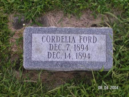 FORD, CORDELIA - Worth County, Iowa   CORDELIA FORD