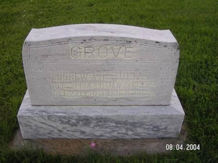 GROVE, JULIA - Worth County, Iowa | JULIA GROVE