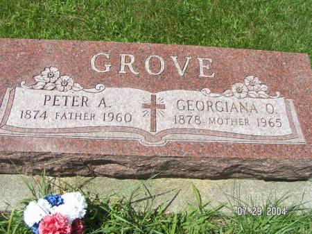 GROVE, PETER A. - Worth County, Iowa | PETER A. GROVE