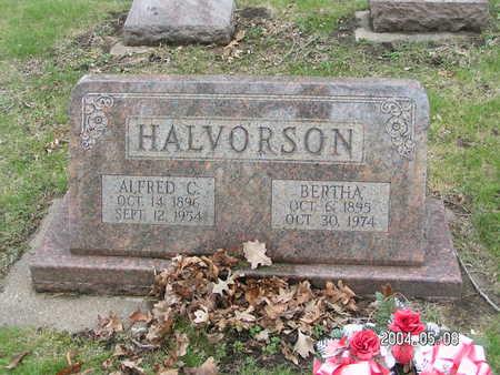 HALVORSON, BERTHA - Worth County, Iowa   BERTHA HALVORSON