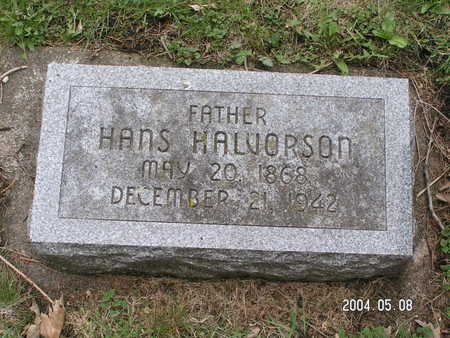 HALVORSON, HANS - Worth County, Iowa   HANS HALVORSON