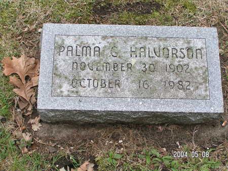 HALVORSON, PALMA - Worth County, Iowa | PALMA HALVORSON