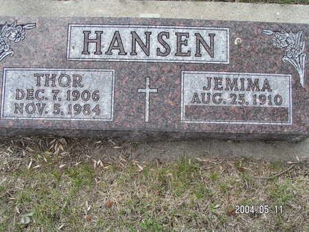 HANSEN, THOR - Worth County, Iowa   THOR HANSEN