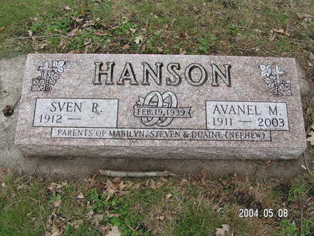 HANSON, AVANEL M. - Worth County, Iowa   AVANEL M. HANSON