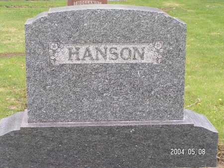 HANSON, (FAMILY STONE) - Worth County, Iowa | (FAMILY STONE) HANSON