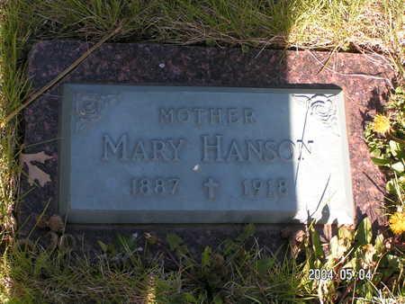 HANSON, MARY - Worth County, Iowa | MARY HANSON