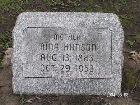 HANSON, MINA - Worth County, Iowa | MINA HANSON