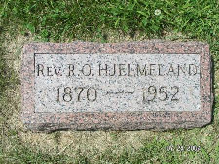 HJELMELAND, REV. R.O. - Worth County, Iowa | REV. R.O. HJELMELAND