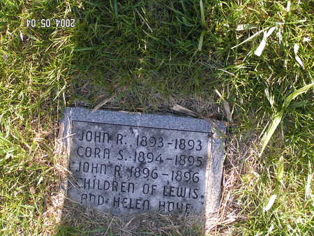 HOVE, CORA S. - Worth County, Iowa | CORA S. HOVE