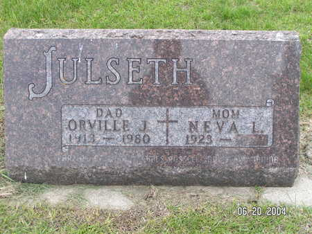 JULSETH, ORVILLE J. - Worth County, Iowa   ORVILLE J. JULSETH