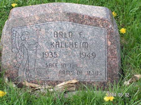 KALLHEIM, ARLO F. - Worth County, Iowa | ARLO F. KALLHEIM