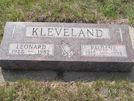 KLEVELAND, PAULINE - Worth County, Iowa | PAULINE KLEVELAND