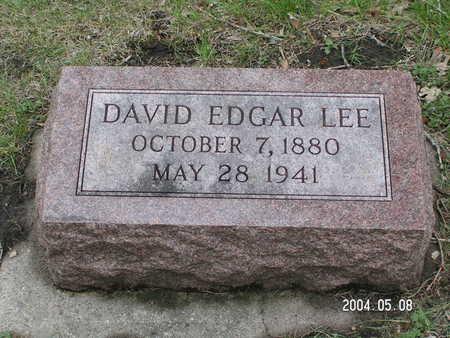 LEE, DAVID EDGAR - Worth County, Iowa | DAVID EDGAR LEE