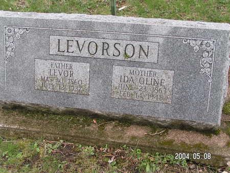 LEVORSON, IDA OLINE - Worth County, Iowa   IDA OLINE LEVORSON