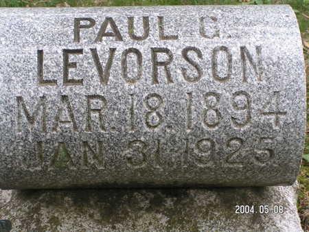 LEVORSON, PAUL G. - Worth County, Iowa | PAUL G. LEVORSON