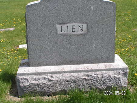 LIEN, (FAMILY STONE) - Worth County, Iowa | (FAMILY STONE) LIEN