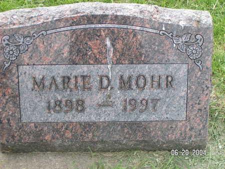 MOHR, MARIE D. - Worth County, Iowa   MARIE D. MOHR