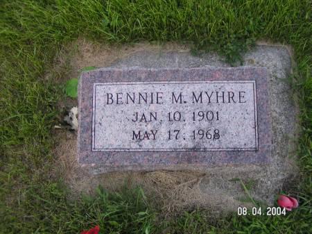 MYHRE, BENNIE M. - Worth County, Iowa | BENNIE M. MYHRE