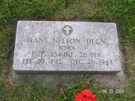 DEGN, HANS NELSON - Worth County, Iowa | HANS NELSON DEGN