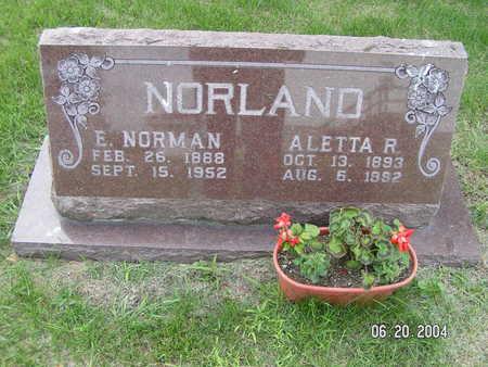 NORLAND, E. NORMAN - Worth County, Iowa | E. NORMAN NORLAND