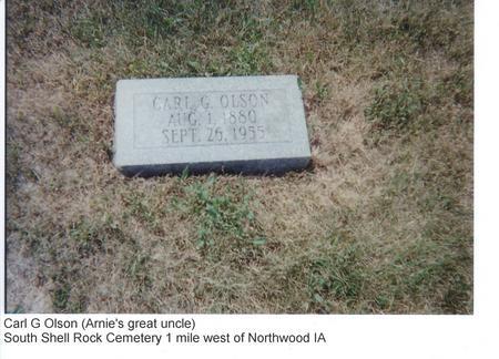 OLSON, CARL G. - Worth County, Iowa | CARL G. OLSON