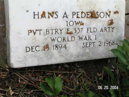 PEDERSON, HANS A. - Worth County, Iowa | HANS A. PEDERSON