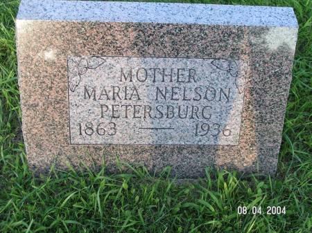NELSON PETERSBURG, MARIA - Worth County, Iowa | MARIA NELSON PETERSBURG