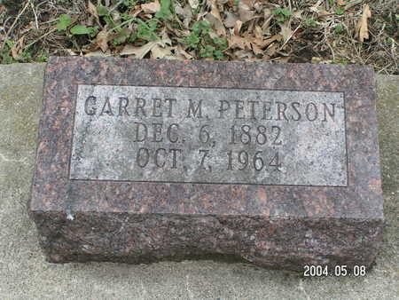 PETERSON, GARRET M. - Worth County, Iowa   GARRET M. PETERSON