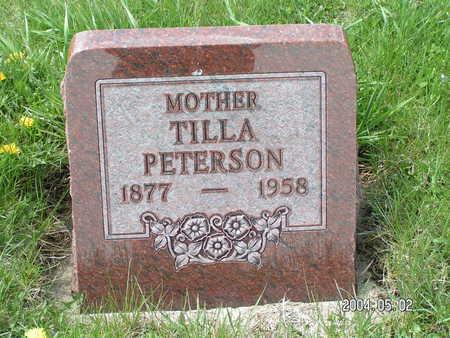 PETERSON, TILLA - Worth County, Iowa | TILLA PETERSON