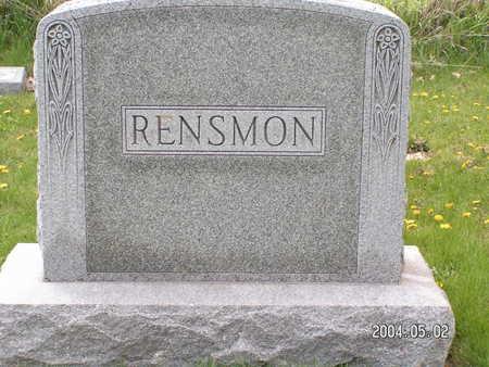 RENSMON, (FAMILY STONE) - Worth County, Iowa | (FAMILY STONE) RENSMON