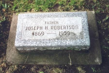 ROBERTSON, JOSEPH HASTWELL - Worth County, Iowa | JOSEPH HASTWELL ROBERTSON