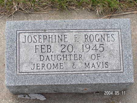 ROGNES, JOSEPHINE F. - Worth County, Iowa | JOSEPHINE F. ROGNES