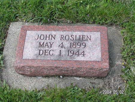 ROSLIEN, JOHN - Worth County, Iowa | JOHN ROSLIEN
