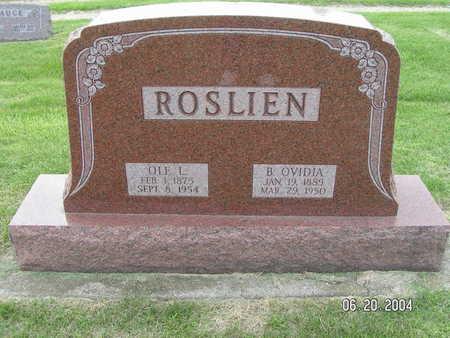 ROSLIEN, B. OVIDIA - Worth County, Iowa | B. OVIDIA ROSLIEN