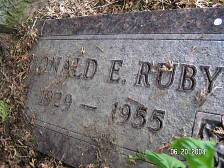 RUBY, DONALD E. - Worth County, Iowa   DONALD E. RUBY