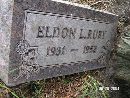 RUBY, ELDON L. - Worth County, Iowa   ELDON L. RUBY